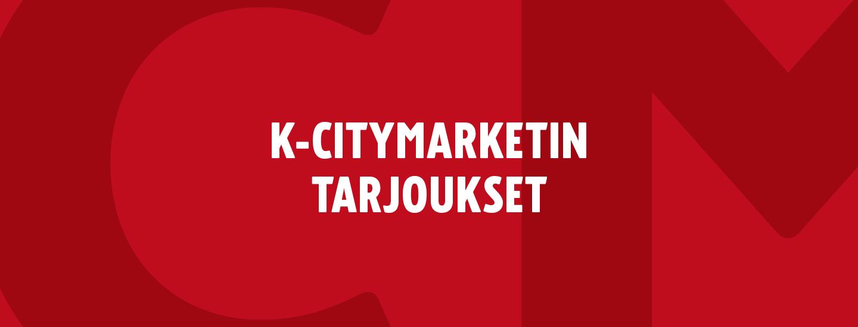 K-Citymarketin kodin-, kosmetiikan- ja pukeutumisen tarjoukset