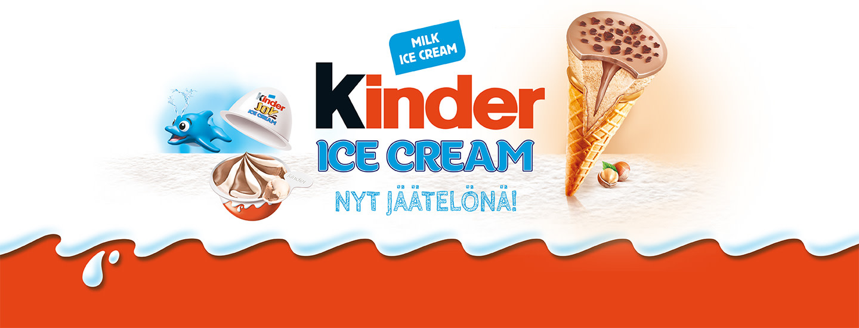 Tuttu suklaabrändi KINDER nyt jäätelönä