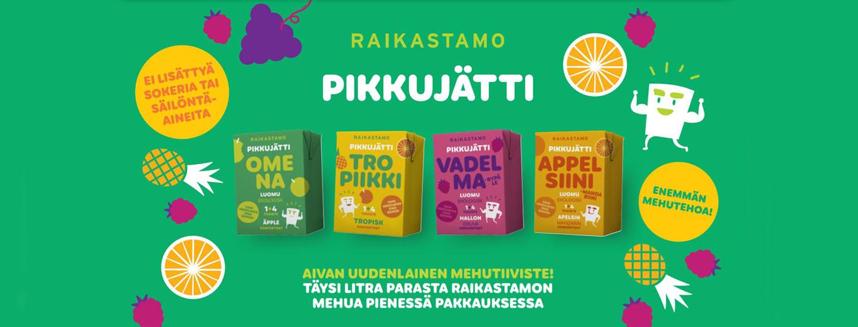 Raikastamon Pikkujätti – Aivan uudenlainen mehutiiviste!