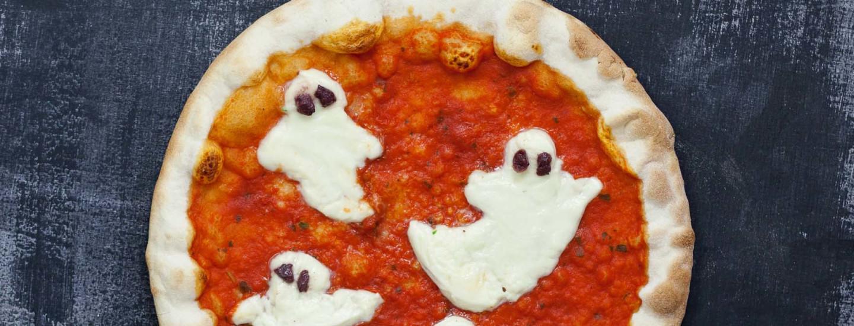 Halloweenin kummituspizza