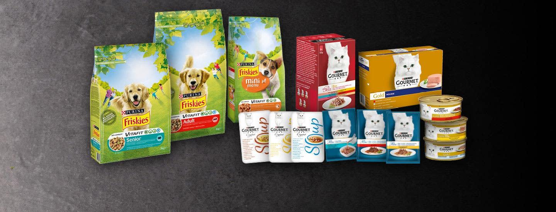 Gourmet-kissanruoat ja Friskies-koiranruoat