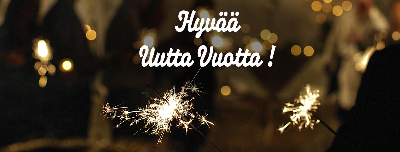 Palvelemme myös uutena vuotena. Katso uudenvuoden aukioloajat ja tarjoukset!
