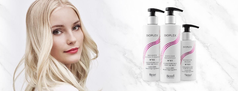 Uusi rakennepaikkaava Biozell Bioplex -hiustenhoitosarja vahvistaa vaurioituneita hiuksia