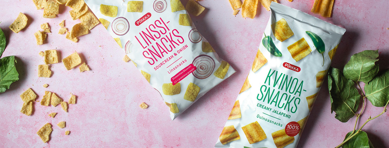 Pirkka snacksit: uutuudet ja uudistuneet tuotteet