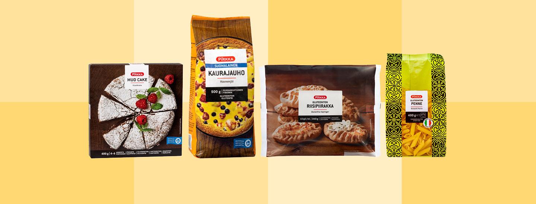 Gluteenittomat Pirkka-tuotteet K-Citymarketista Plussa-kortilla -20%
