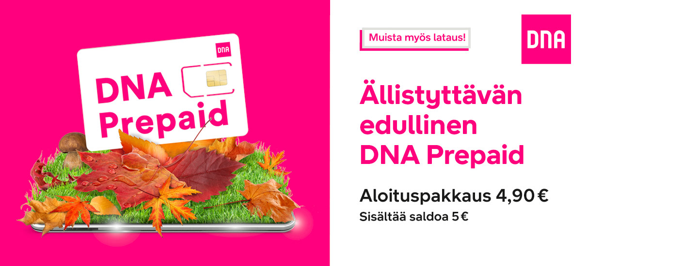 DNA Prepaidit K-kaupoista ja Neste K -asemilta!
