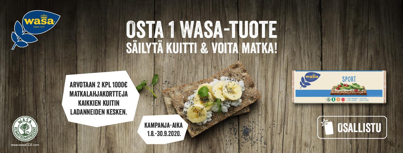 Osta Wasa-tuotteita K-ruokakaupoista ja osallistu matkalahjakortin arvontaan