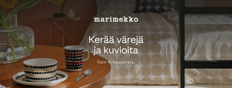 Marimekko-kampanjatuotteet vain K-kaupoista 26.8.2021 - 16.1.2022
