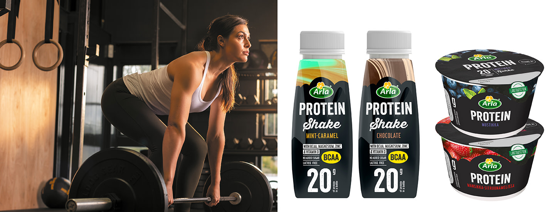 Pysy lujana, osallistu kilpailuun ja voita Arla Protein -tuotepaketti täynnä yllätyksiä!