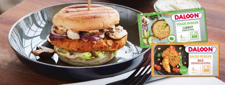 Uudet Daloon kasvisburgerpihvit sopivat grilliin ja hampurilaisen väliin