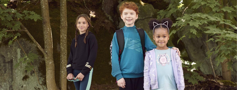 Koululaisen vaatekaappi syksyllä 2020