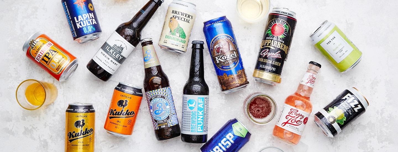 Alkoholittomat oluet ja siiderit makutestissä 2020