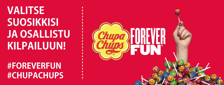 Voita laatikollinen Chupa Chups -tikkareita