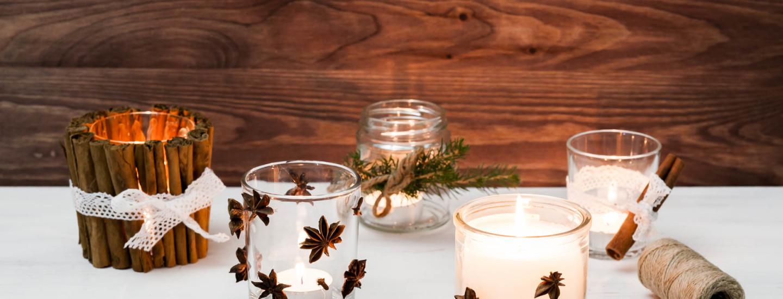 Kynttilöiden tuunaus koristeilla