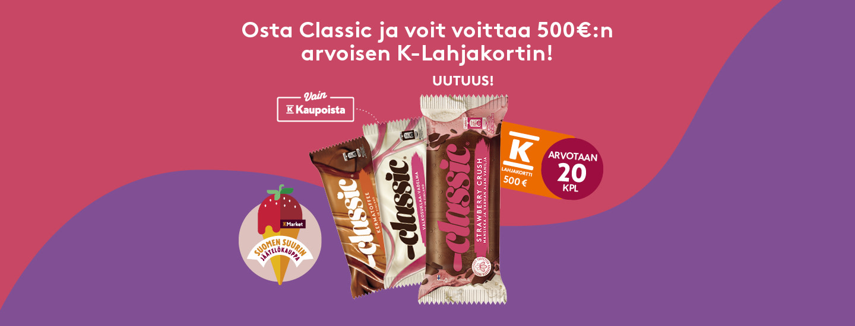 Voita jäätelöllä 500 euron lahjakortti!