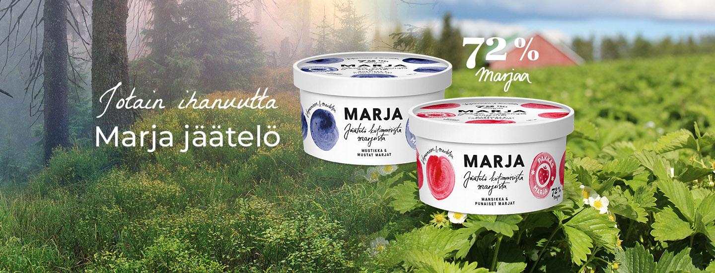 Pakkasmarjan uudet MARJA-jäätelöt