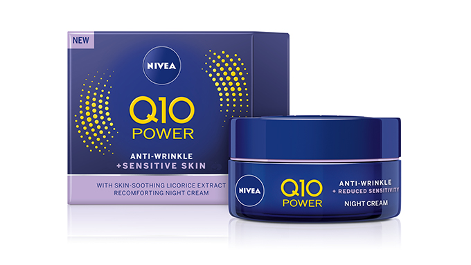 KCM kauneus lanseerausalue NIVEA-Q10-POWER-Sensitive-Night-Cream