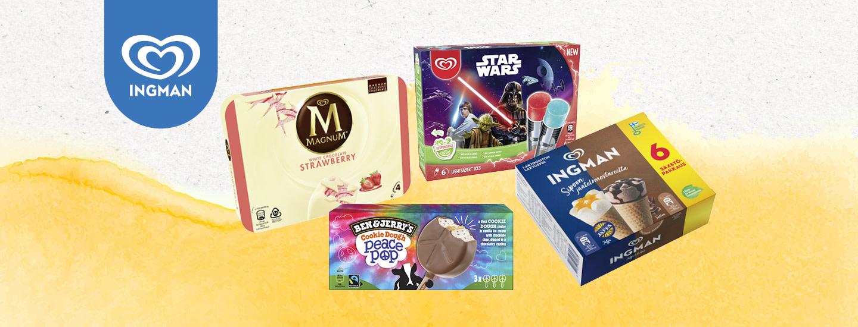 Magnum-, Ingman-, Ben&Jerry's- ja Disney-monipakkaukset erilaisiin herkutteluhetkiin!