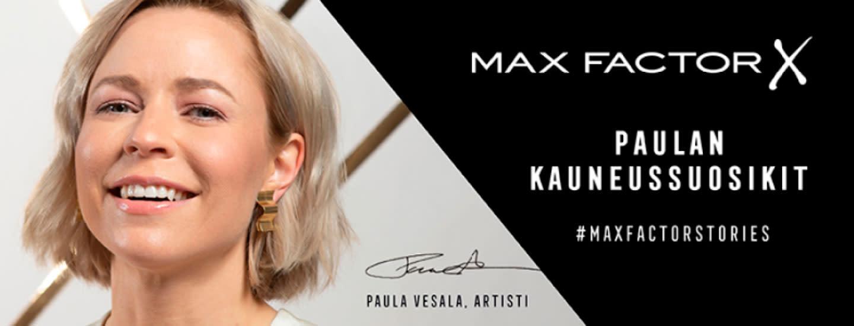 #maxfactorstories X Paula Vesala