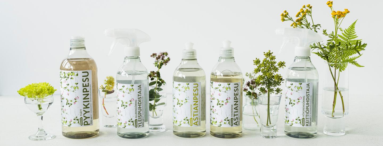Katseenkestävää, ekologista ja tehokasta! Uudet Pirkka Ecocert pesu- ja puhdistusaineet kodin kaunistajiksi