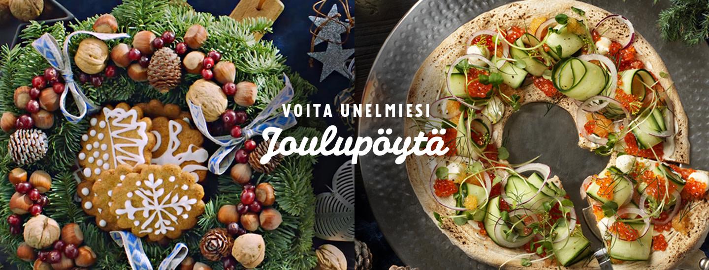 Voita 500 € K-lahjakortti ja laajenna ruokareviiriäsi jouluna