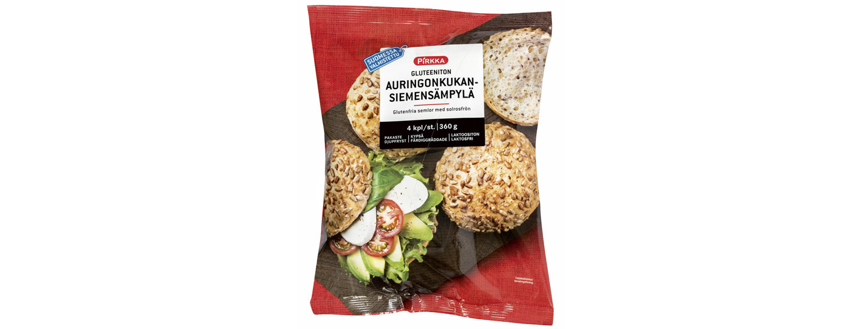 Takaisinveto: Pirkka gluteeniton auringonkukansiemensämpylä 4 kpl/360 g pakaste
