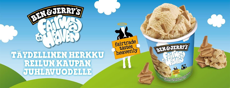 Onnea Reilu kauppa 20v! Ben & Jerry's onnittelee 20-vuotiasta Reilua kauppaa