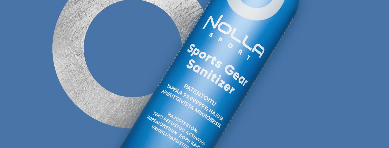 Nolla Sports Gear Sanitizer raikastaa ja desinfioi urheiluvarusteet-, välineet ja -vaatteet!