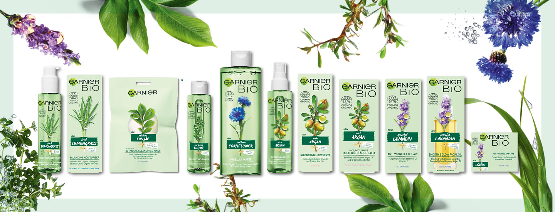 Garnier BIO -sarja on sertifioitua luomua