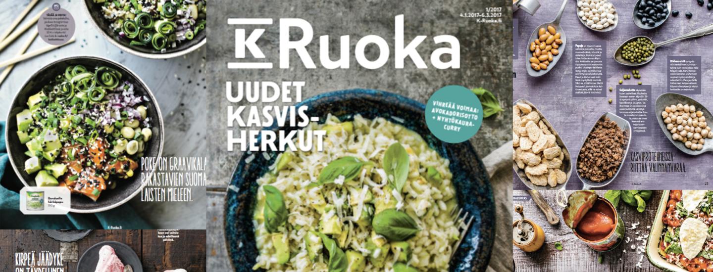 K-Ruoka 1/2017 -lehden reseptit
