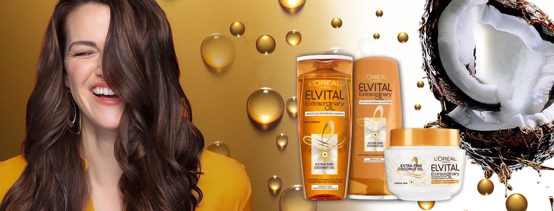 Uusi L'Oréal Paris Elvital Extraordinary Oil Coconut -hiustenhoitosarja