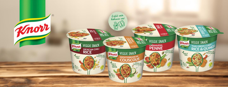 Knorr Veggie Snack, hyvän olon kasvisvälipala