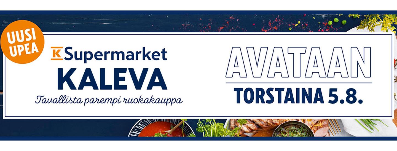 Nopean asioinnin ja iloisen palvelun K-Supermarket Kaleva avautuu