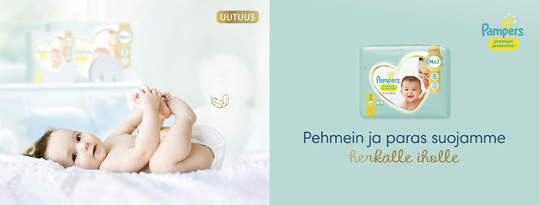 Pampers Premium Protection -vaipat  – Luotettavaa kuivuutta