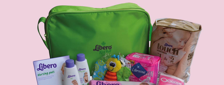Libero-laukku vastasyntyneen vanhemmille K-kaupasta