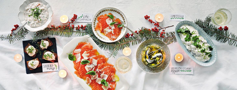 Joulun kalapöytä