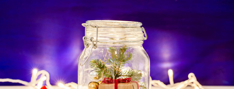 Joulumaa lasipurkissa