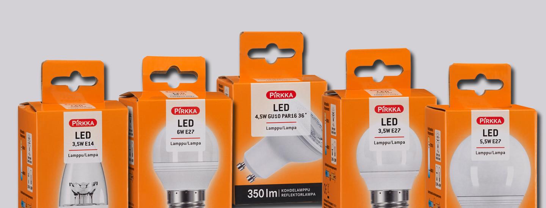 Led-lamppu säästää energiaa valosta tinkimättä