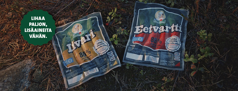 Snellmanin Eetvartti ja Iivari -grillimakkarat on helppo tunnistaa