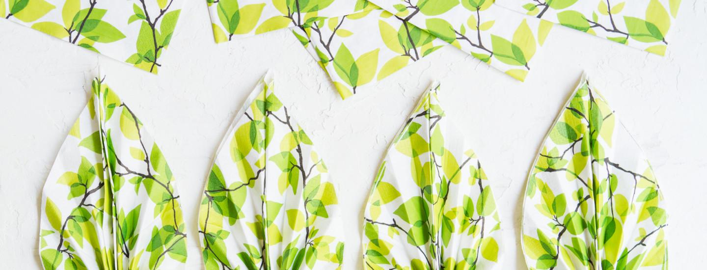 Lautasliinan taittelu – katso kuvalliset ohjeet