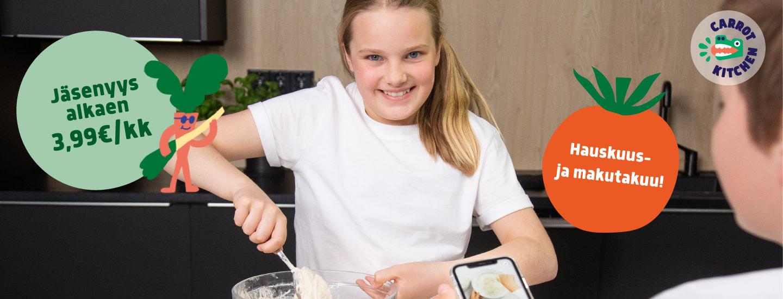 Carrot Kitchen on suomalainen uutuus - lasten ikioma kokkaussovellus