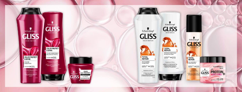 Gliss – Löydä sinun hiustarpeillesi sopiva hiustenhoitosarja