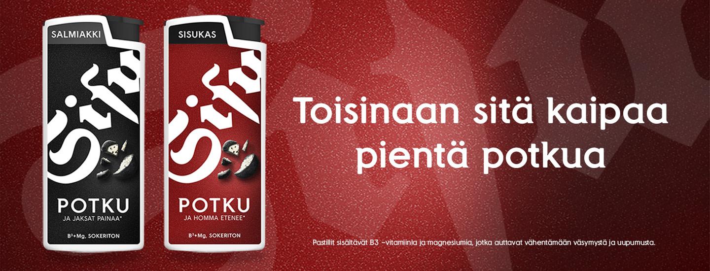 Vastaa ja voita urheilukassillinen Sisu Potku-uutuuspastilleja!