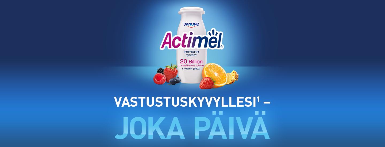 Osallistu kilpailuun ja voita uusi Fjällrävenin reppu täynnä Actimelia.