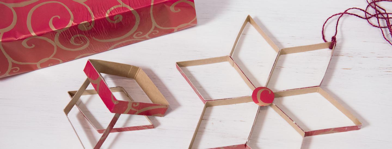 Askarrellaan joulukoristeita Pirkka-maitopurkeista