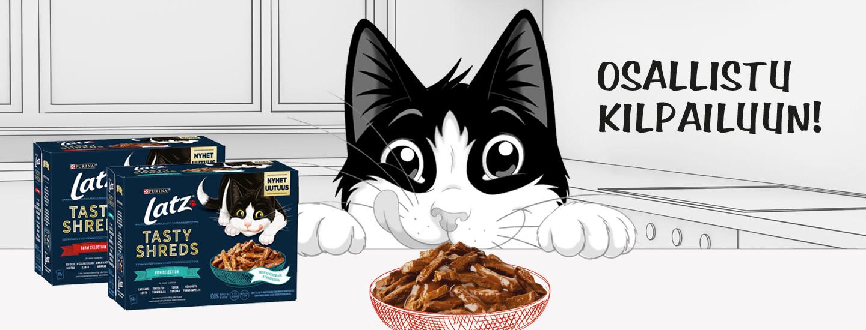 Voita Latz®-kiipeilylinna Tasty Shreds -uutuuksilla!