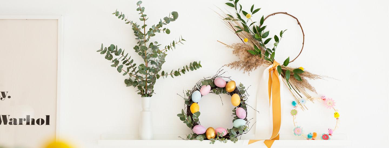 Tee itse tyylikäs pääsiäiskranssi