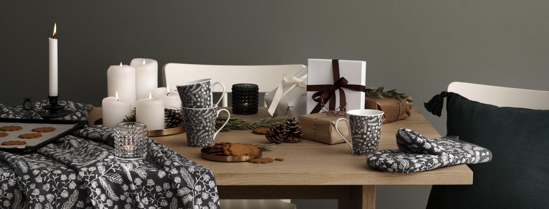 Sisusta joulukoti raikkailla Hemtex 24h -tekstiileillä ja astioilla