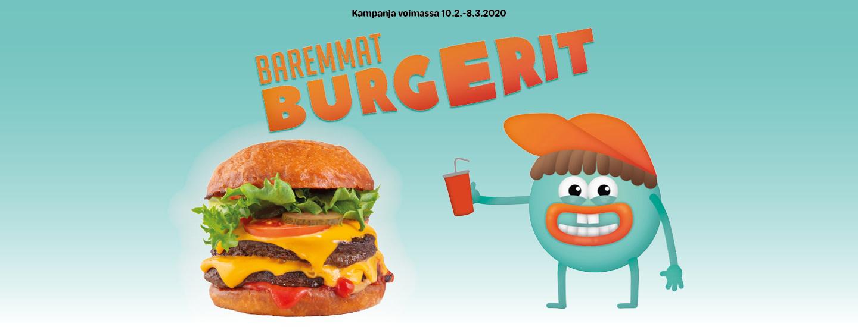 Bysähdy Baremmalle Burgerille