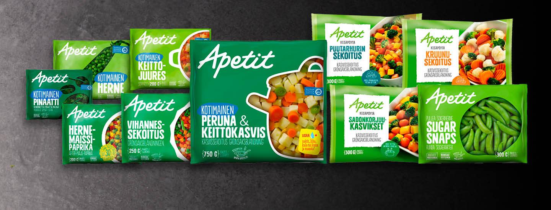 Apetit-pakastevihannekset K-Citymarketista Plussa-kortilla -20 %